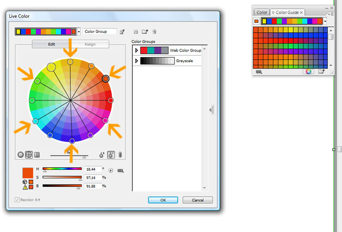 tertiary colour wheel. Each tertiary color